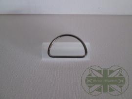D-ring ZWART 40mm *gesloten*