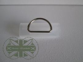 D-ring Nickelkleur 30mm *gesloten*