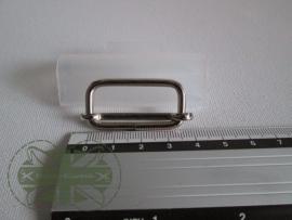 Metalen schuifgesp zilver / 30mm
