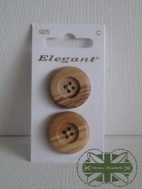 Knoop hout set van 2.