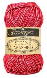 Stonewashed color 807 Red Jasper.