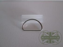 D-ring Nickelkleur 50mm *gesloten*