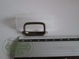 Metalen schuifgesp brons / 25mm