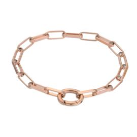 Bracelet square chain rose