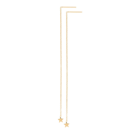 IXXXI Ear studs chain star goud