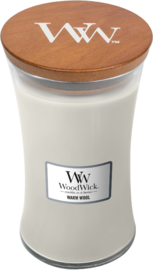 large candle warm wool