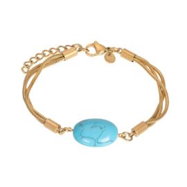 Bracelet summer goud