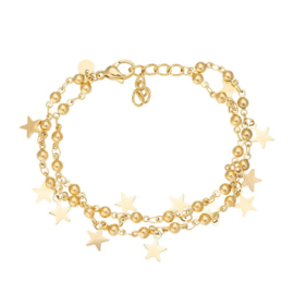 IXXXI armband dazzling stars goud
