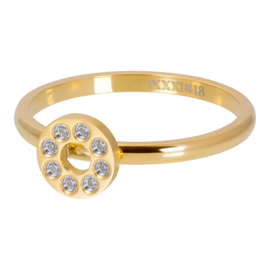 IXXXI Flat circels crystal stone goud 2mm