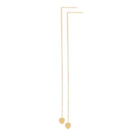IXXXI Ear studs chain heart goud