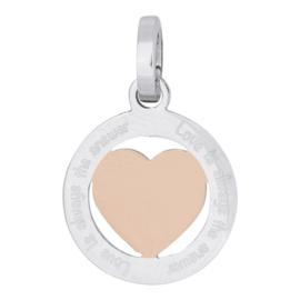 ixxxi hanger zilver rose hart