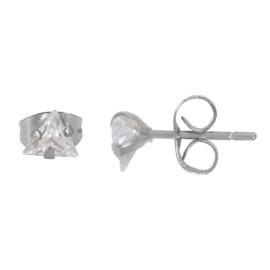 IXXXI Ear studs triangle stone zilver