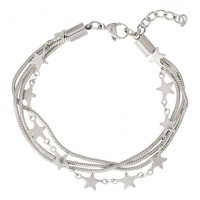 ixxxi armband snake and star zilver