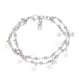 IXXXI armband dazzling stars zilver