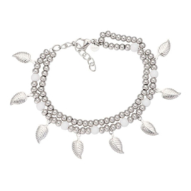IXXXI armband Dazzling leaves zilver