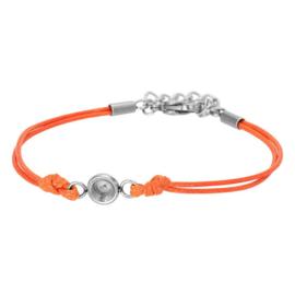 IXXXI armband Wax cord top part base oranje