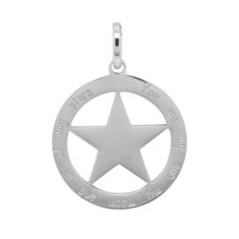 ixxxi hanger  zilver met  ster