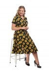 Collectif Mainline Caterina Sunflower Swing Dress