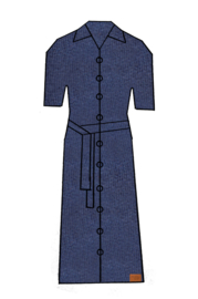 Mooi Vrolijk 7 Dress Long - Basic Dark Blue