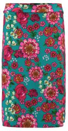 Tante Betsy Midi Skirt Mod Flowers Blue