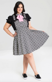 Hell Bunny Pinafore Poker face Dress