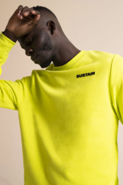 Sustain Logo Sweater Lime