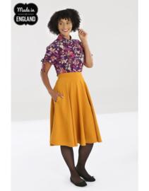 Hell Bunny Amelie skirt Mustard