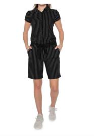 Zip73 Jumpsuit Short Krijtstreep