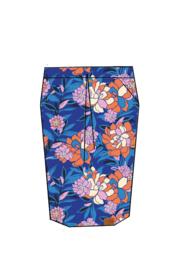 Mooi Vrolijk Skirt Happy -Cobalt Blue Flowers