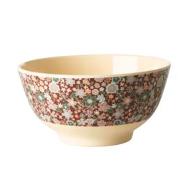 Rice Melamine bowl  Fall Floral print