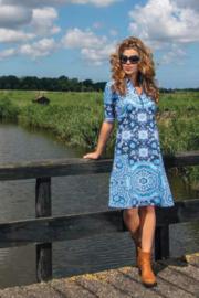 Lalamour Zipper  Dress Dutch Blue