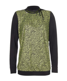 Zip73 Blouse Zwart -Lime