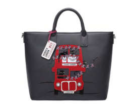 Vendula London Cats London Bus Carry All Tote-Grey