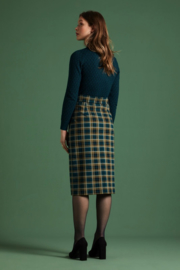 King Louie Pencil Button Skirt Rodeo Check