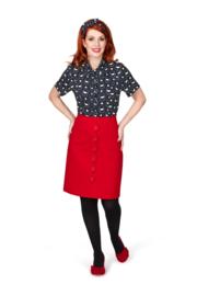 Margot Scarlet Hips Skirt