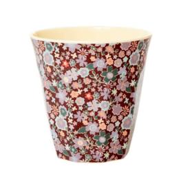Rice Cup Fall floral Medium