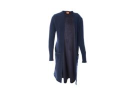 Mooi Vrolijk Vest Long Basic Dark Blue