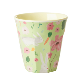 Rice Melamine cup Green Easter print