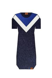 Dress Color Block - Cobalt/White/Dark Blue