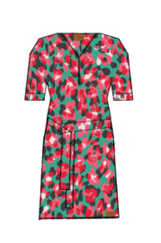 Mooi Vrolijk Dress Short Zipper - Spring Flowers