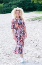 Mooi Vrolijk Dress Long - Zebra