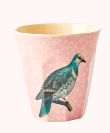 Rice Beker vogel Soft Pink