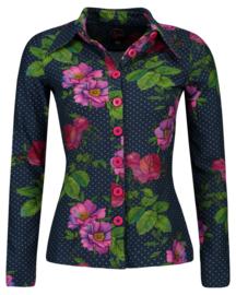 Tante Betsy Button shirt Romantica navy