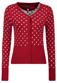 Tante Betsy Cardi Polka Dots Red