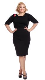 Collectif Polly Plain Bengaline skirt