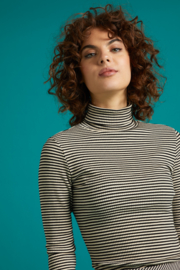 King Louie Rollneck Top Tweedy Stripe