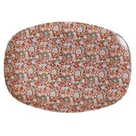 Rice Plate Fall Floral Print Small