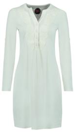 Tante Betsy Soup Dress White Slub Branch
