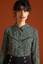 King Louie Nala Collar Blouse Sevres