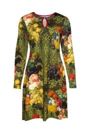 Lalamour Flared Dress High Neck Bouquet